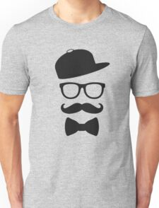 mustace eyes black glass swag Unisex T-Shirt