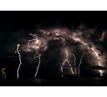 When Lightening Strikes  Photographic Print