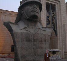 Bust of Saddam Hussein by Martina Nicolls