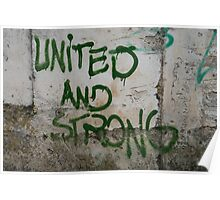United and strong Poster