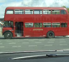 Old South Wales Red Double Decker Bus by anaisnais