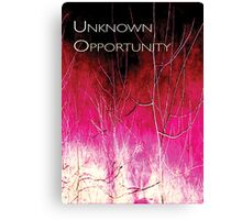 Psychmaster Magenta Brush 101 DK Unknown Opportunity Canvas Print