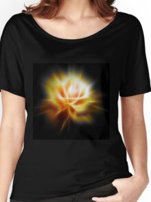 Yellow glowing rose Women's Relaxed Fit T-Shirt