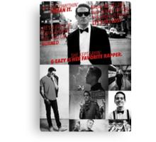 G-Eazy - 'Lyrics' Collage Canvas Print