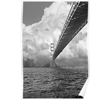 Bridge through clouds Poster
