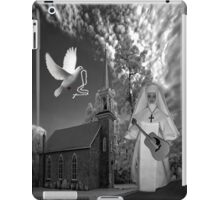 OH I'D LIKE TO GO BACK TO THAT OLD COUNTRY CHURCH-AND HEAR THE SONGS OF PRAISE - PICTURE/CARD iPad Case/Skin