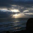 Sunset over the ocean by Matthew Duke