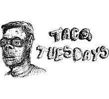 Taco Tuesdays Grunge Sketch Photographic Print