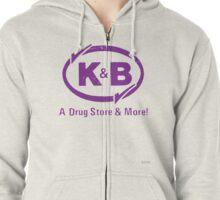 K&B (white) Zipped Hoodie