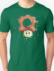Red Mario Mushroom Watercolor Unisex T-Shirt