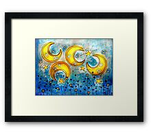 Under the Compass Moon Framed Print