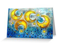 Under the Compass Moon Greeting Card