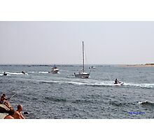 Jet skis on the river Photographic Print