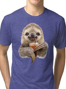 SLOTH & SOFT DRINK Tri-blend T-Shirt