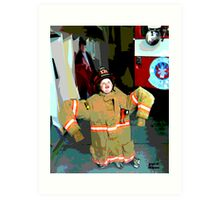 Wanna Be A Fireman Art Print