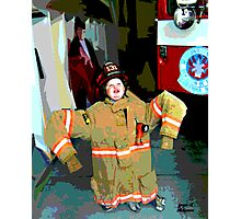 Wanna Be A Fireman Photographic Print