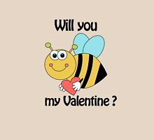 bee my Valentine Womens Fitted T-Shirt