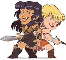 Xena and Gabrielle - I Got Your Back by pepperbear