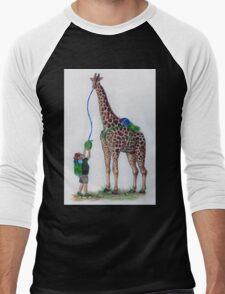 Geoffrey the Giraffe Men's Baseball ¾ T-Shirt