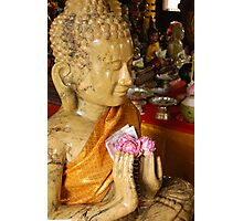 Buddha Offerings Photographic Print