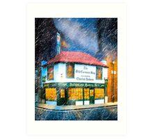 A London Rain On The Old Curiosity Shop Art Print