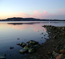 Sunset Over Warners Bay by reflector