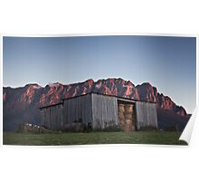 Hayshed at Sunset Poster