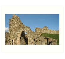 Hastings Castle Walls above the English Channel Art Print