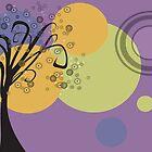 Savage Tree in Purple by EggsandScissors