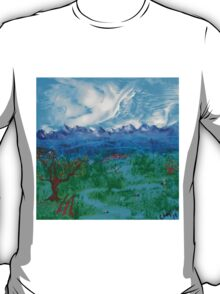 Spring Day in a mountain Valley T-Shirt