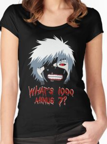 """Tokyo Ghoul - """"What's 1000 minus 7?"""" (Minimalistic) Women's Fitted Scoop T-Shirt"""
