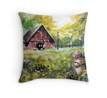 Once A Dairy Farm Throw Pillow