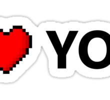 I LOVE YOU - Geek - 8 Bit Heart Sticker