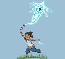 Young Avatar Korra and Raava fly a kite Unisex T-Shirt