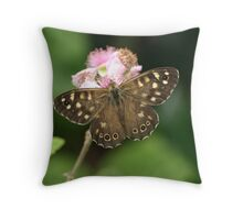 Speckled Wood or Wood Argus Throw Pillow