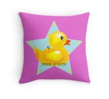 Well, Hook A Duck! Throw Pillow