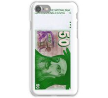 50 Old Swiss Francs Note - Front iPhone Case/Skin
