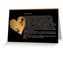 Principles and Pride ... Greeting Card
