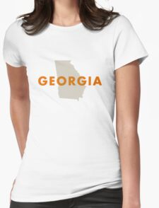 Georgia - Red Womens Fitted T-Shirt