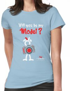Red - The New Guy - Will you be my Model ? Womens Fitted T-Shirt