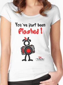 Red - The New Guy - You've just been Flashed ! Women's Fitted Scoop T-Shirt
