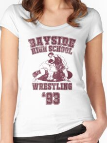 BAYSIDE HIGH SCHOOL WRESTLING Class of 93 Women's Fitted Scoop T-Shirt