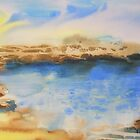 Watercolour: The Beach by Marion Chapman