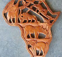 Swaziland Carving by Glenna Walker