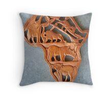 Swaziland Carving Throw Pillow