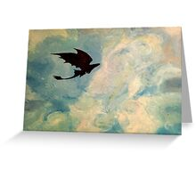 Toothless in the Sky Greeting Card