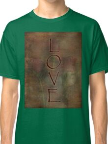 LOVE Trio of Roses Textured Design Love and Romance Series Classic T-Shirt