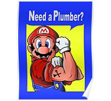 NEED A PLUMBER? MARIO VERSION Poster
