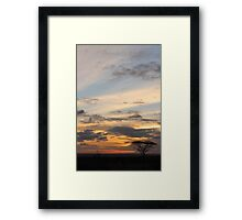Sunset in Africa Framed Print
