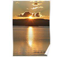 SUNSET OVER JOE GLOBE LAKE Poster